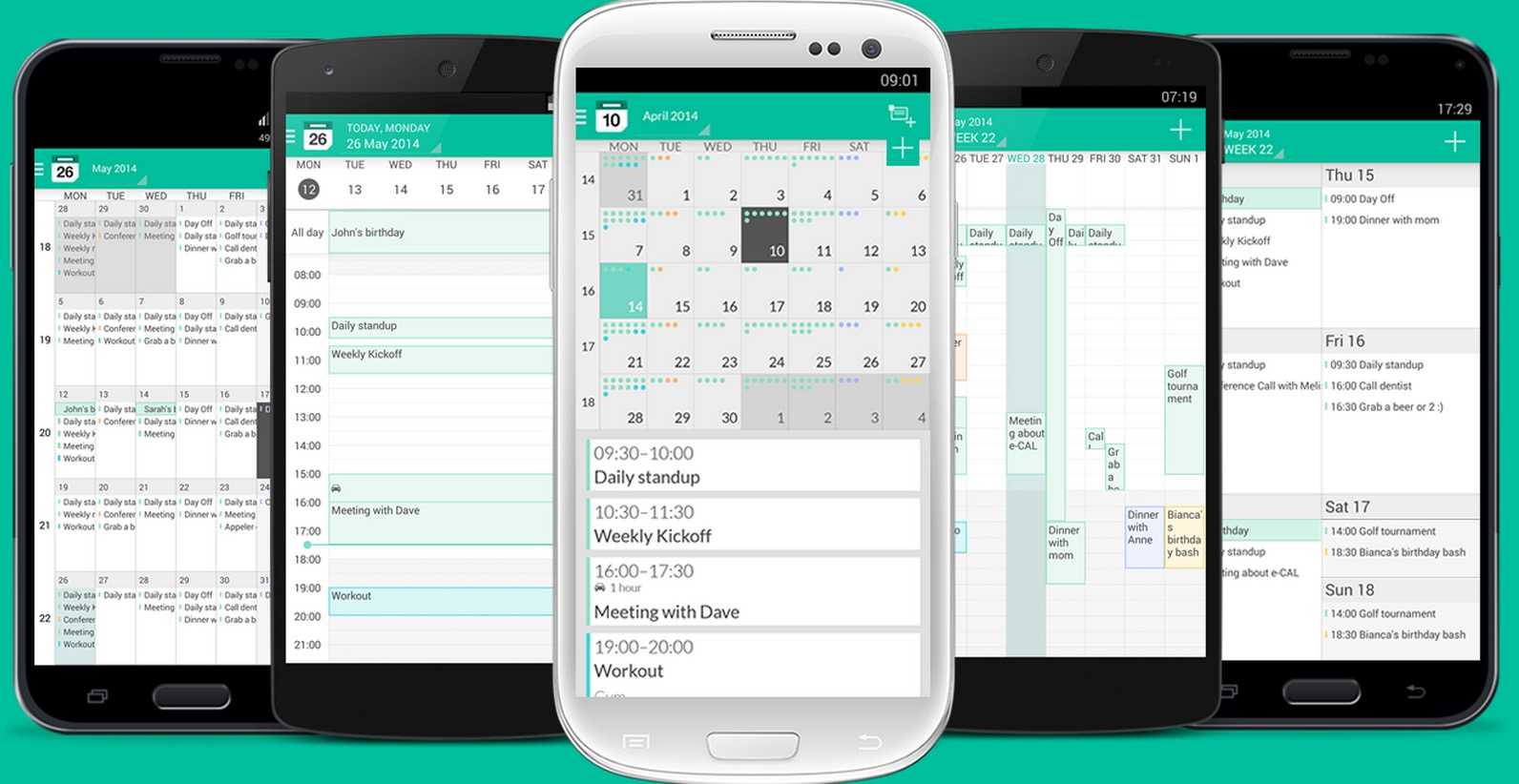 Android Holo-Design Kalender