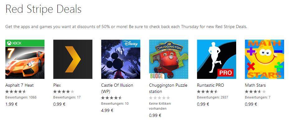 app games red stripe Windows Phone wp