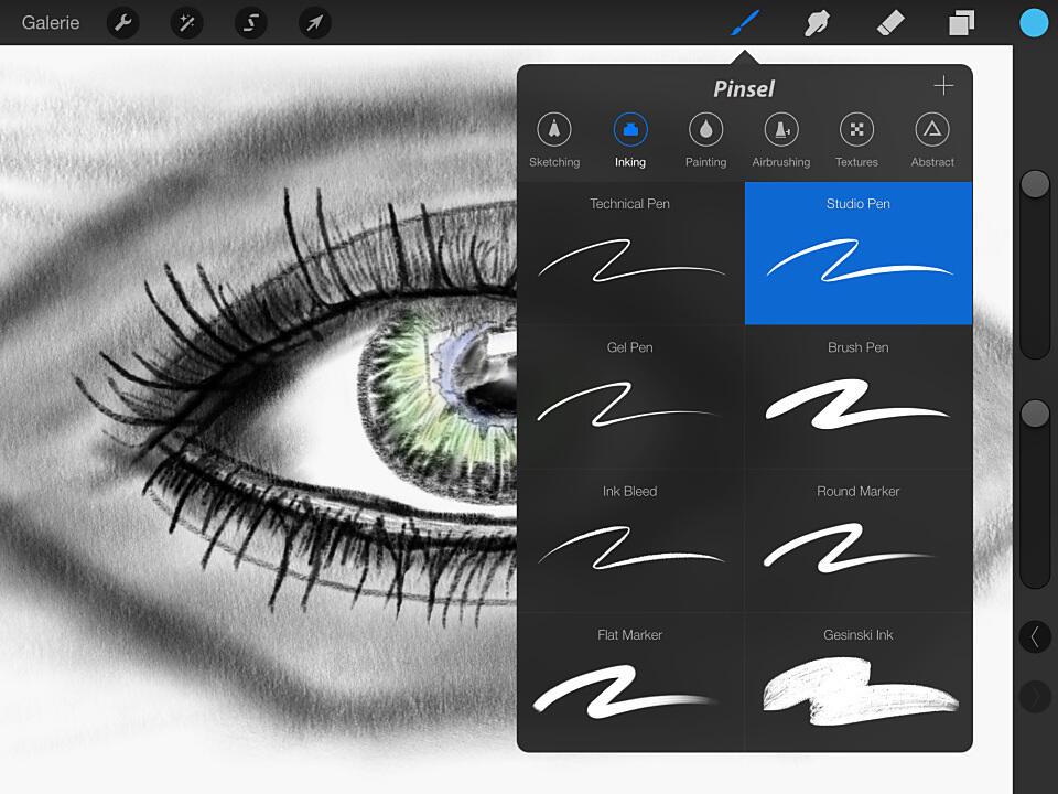 iOS malen photoshop procreate zeichnen