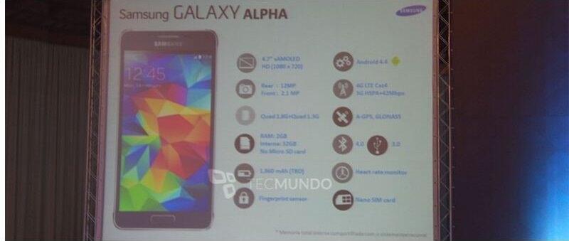 Android Leak Samsung Samsung Galaxy Alpha Smartphone specs