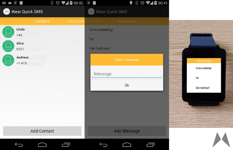 Android SMS Template wear