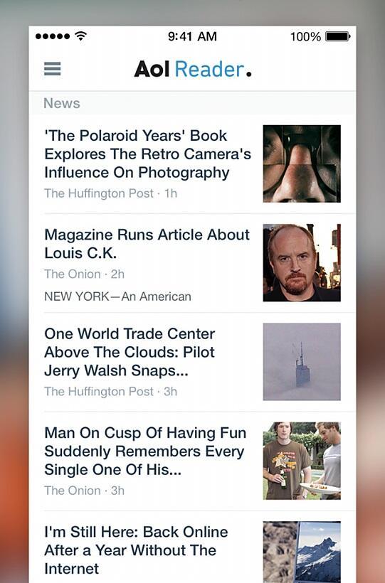 aol Apple feed iOS iPad iphone reader