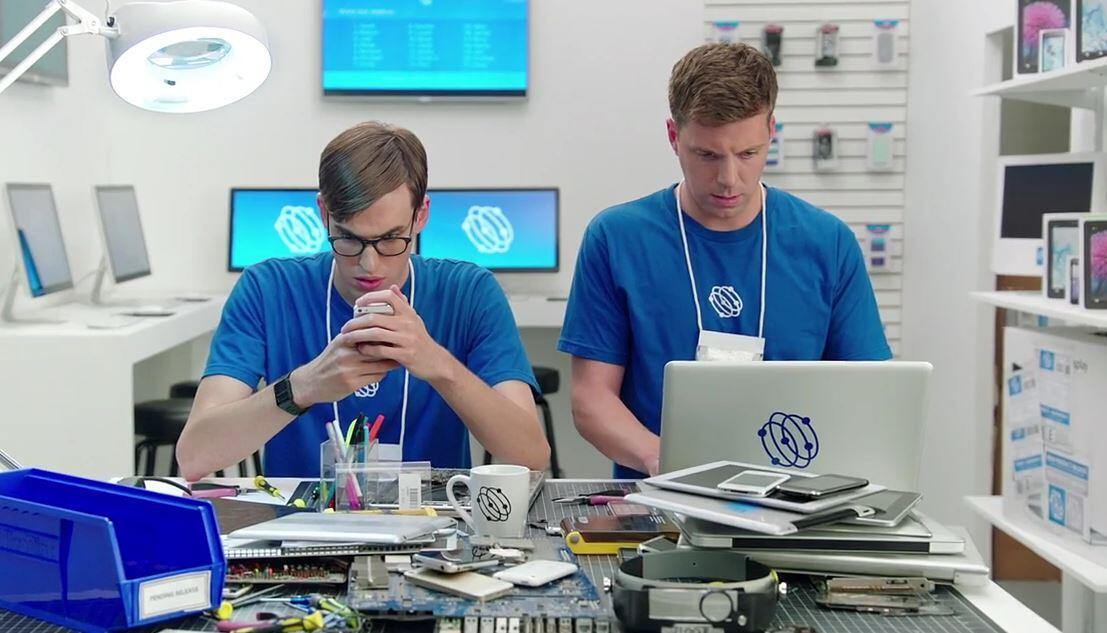 Android Apple galaxy iphoe Samsung werbung
