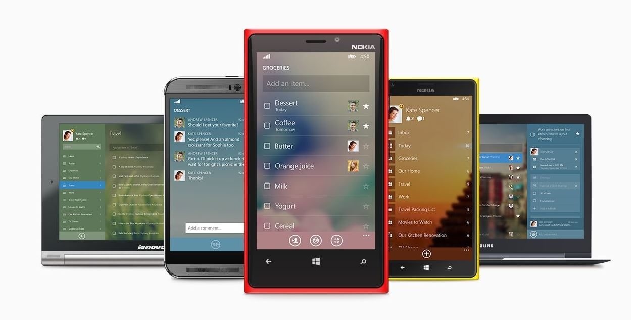 Windows Phone wunderlist