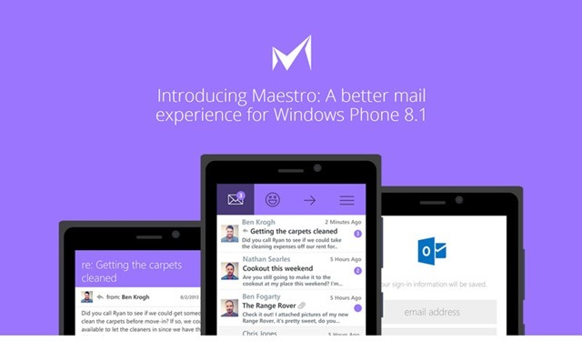 maestro email app f r windows phone 8 1 in der preview. Black Bedroom Furniture Sets. Home Design Ideas