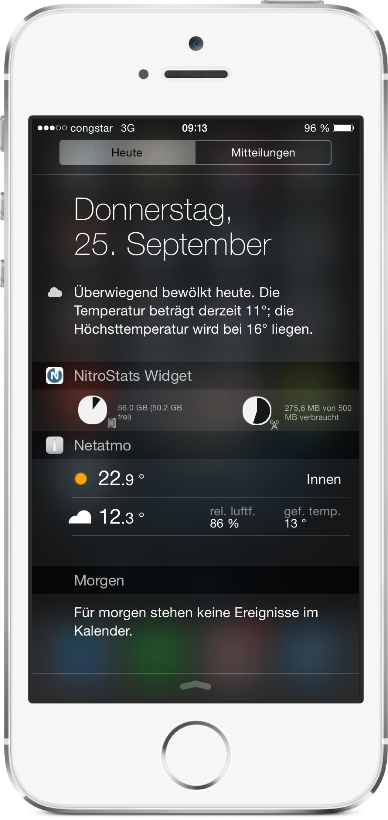 app Apple iOS iphone stats Update Vodafone widget