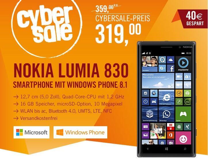 830 cybersale deal Lumia Nokia Windows Phone