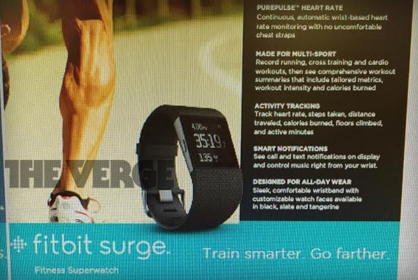 fitbit fitness tracker smartwatch surge