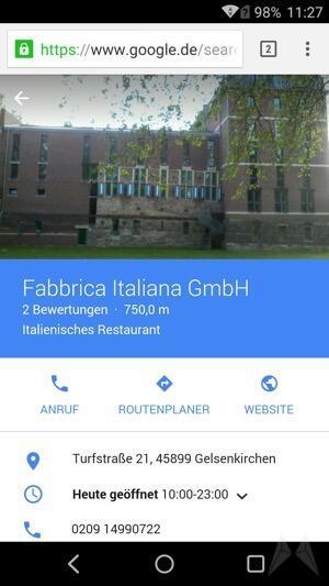 Google Google Suche Material Design mobil