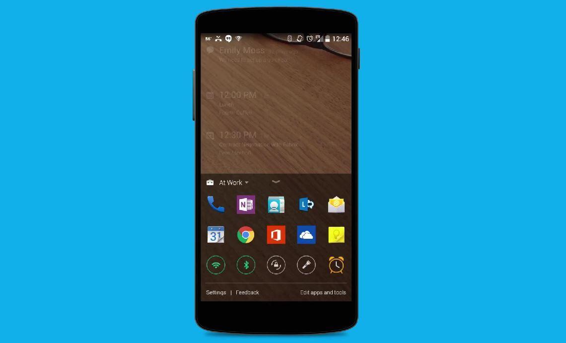 Android lockscreen microsoft next lock screen