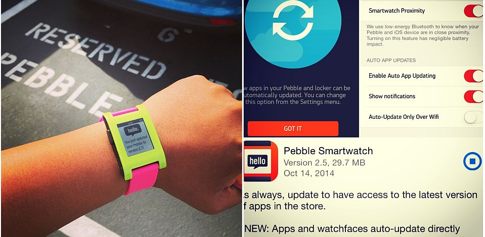 Android iOS Pebble Update