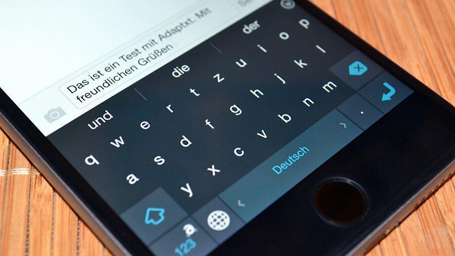 app iOS Tastatur