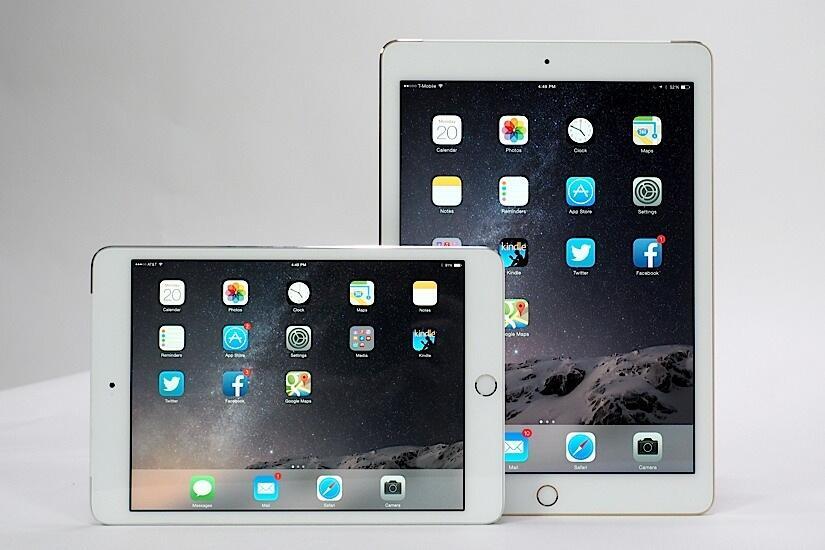 air Apple iOS iPad Mini test