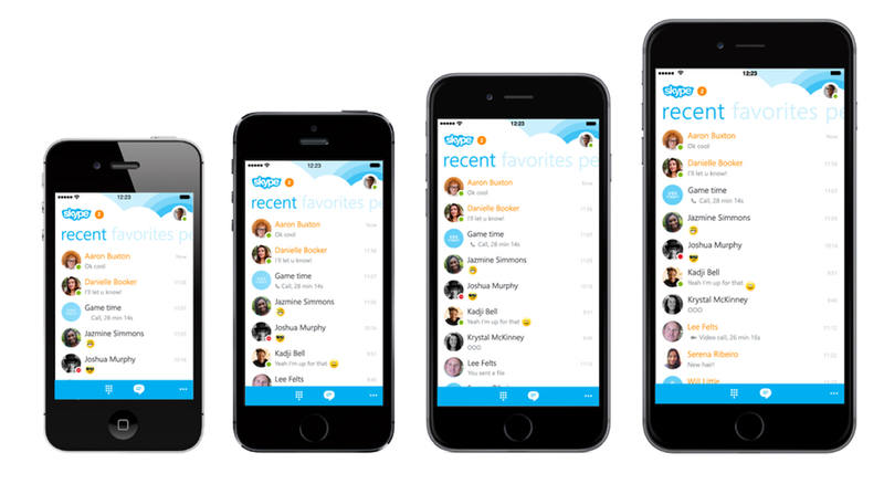 Apple iOS iphone iPhone 6 iPhone 6 Plus microsoft Skype