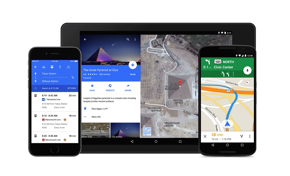 Android Google iOS Maps Material Design Update