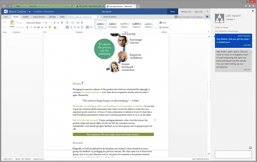 chat microsoft office Office Online Skype