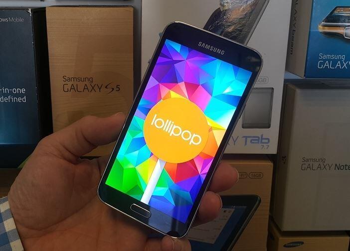 Android lollipop Samsung Update vergleich Video