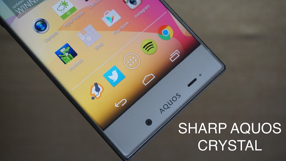 Android Aquos Crystal review Sharp test