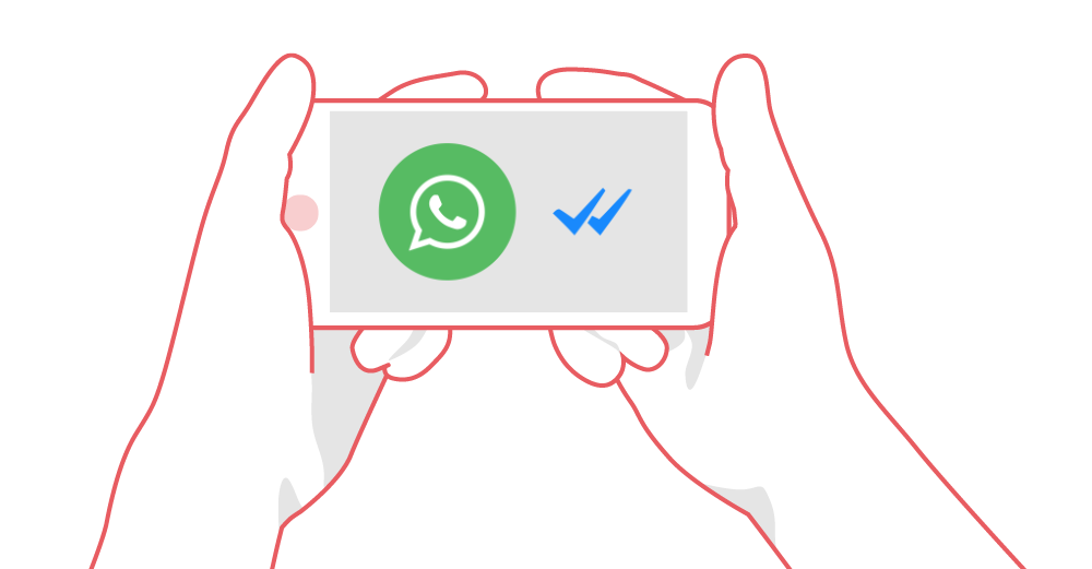 Android blau haken Messenger whatsapp