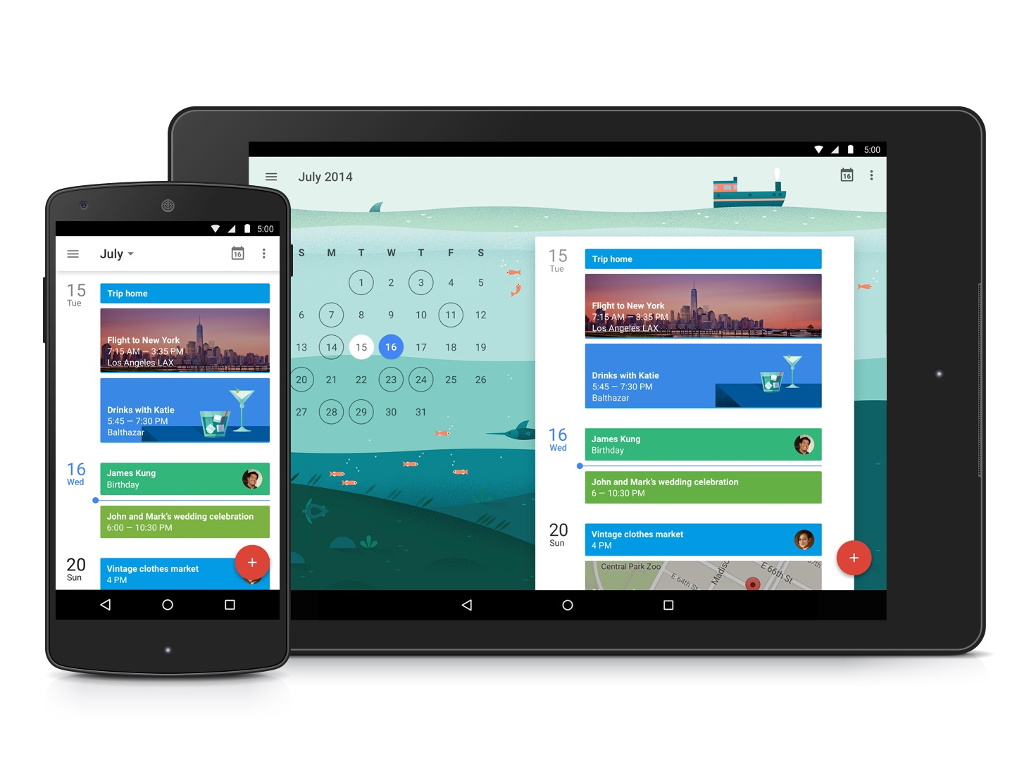 Android Google Kalender Update