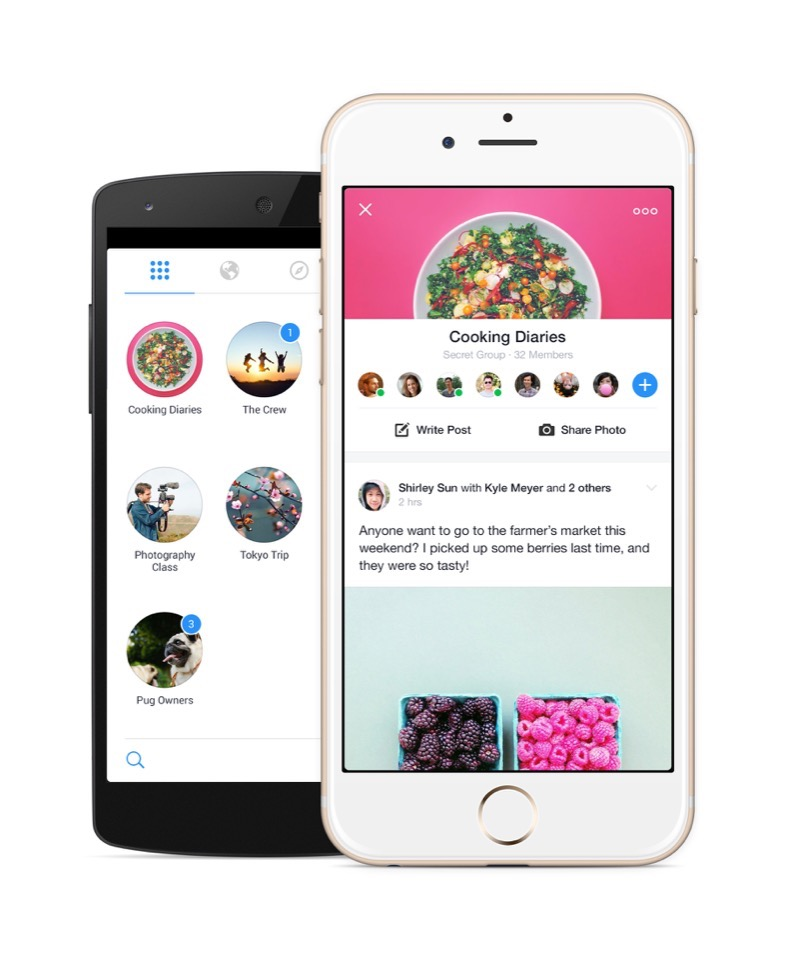 Android app facebook gruppen iOS social