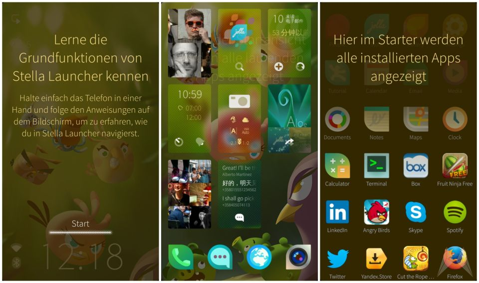 Android Jolla launcher