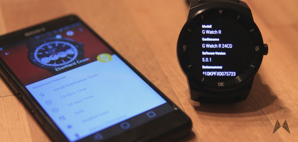 Android anleitung LG G Watch R lollipop