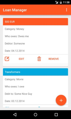 Android app ausleihen leihen Material Design