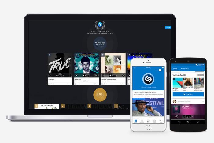 Android iOS shazam spotify