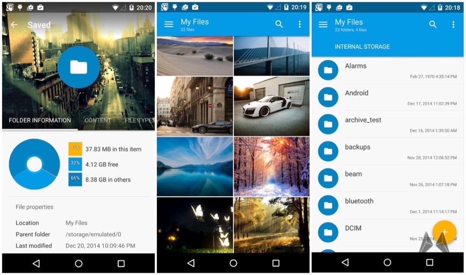 alpha Android Explorer Material Design test
