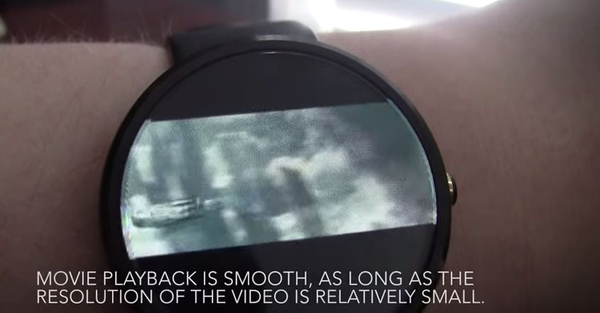 Android Moto360 Video Playback wear