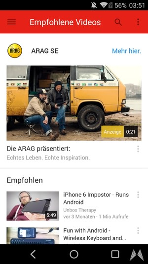 Android apk app Material Design redesign social Update YouTube