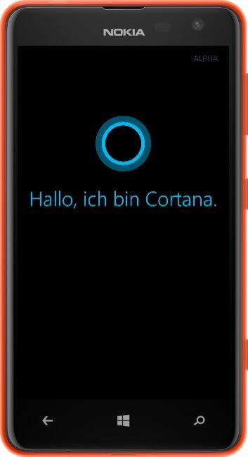 alpha cortana microsoft Windows Phone wp
