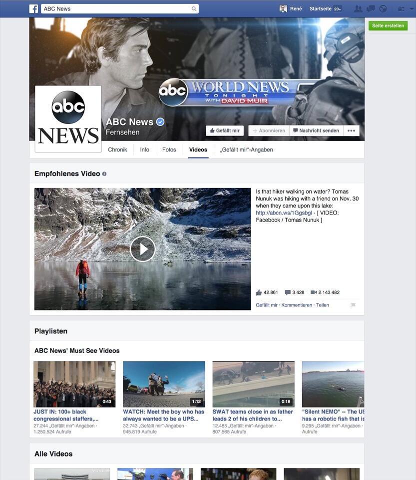 facebook Netzwerk social videos