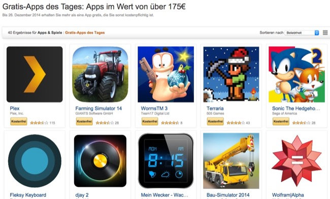 aktion amazon Android Apps deal gratis