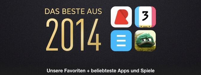 2014 app store Apple best of iOS itunes