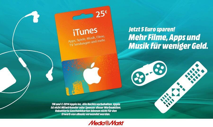 Apple itunes iTunes Karte iTunes Rabatt media markt