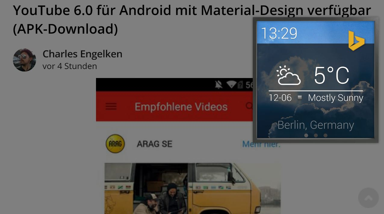 Android Android Wear microsoft suche Torque