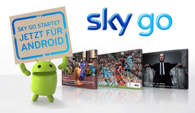 Android app go Sky Video vod