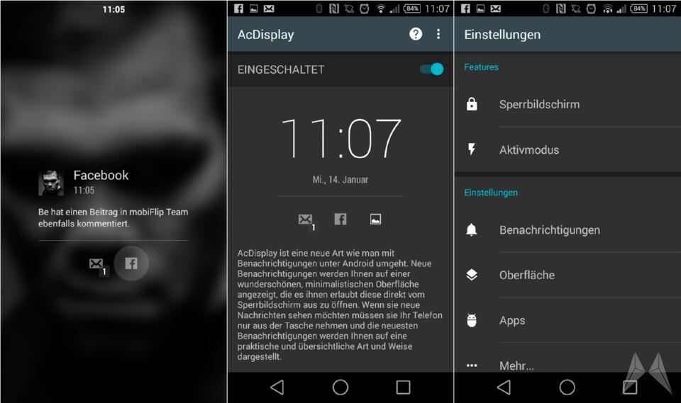 Android Benachrichtigung lockscreen Material Design notification