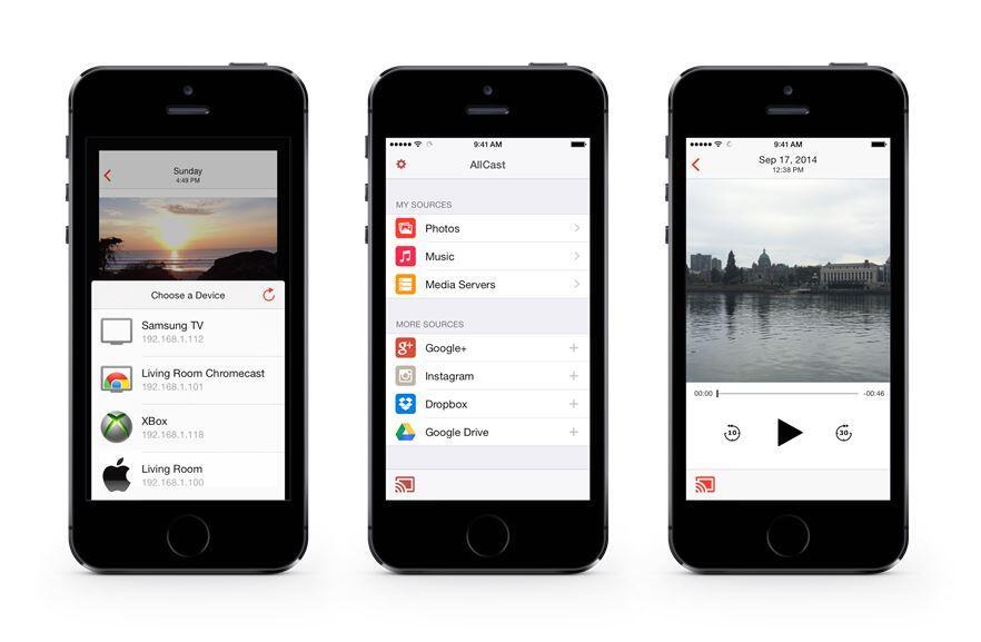 AllCast app iOS streaming