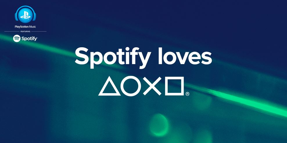 app music playstation Sony spotify streaming