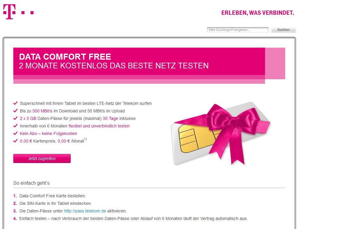 aff Daten LTE lte-a mobilfunk tarif Telekom