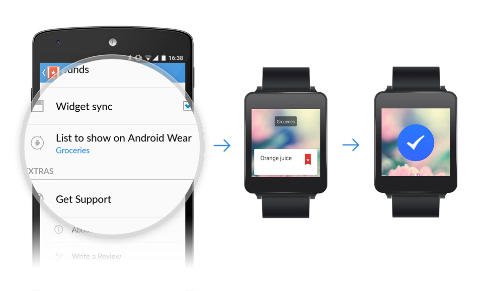 Android To-Do wear wunderlist