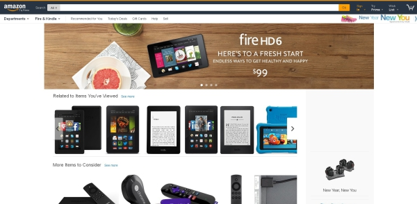 amazon layout redesign shopping