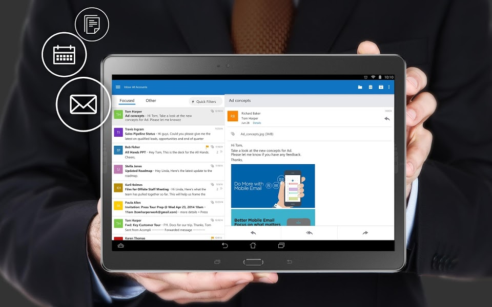 Android mail microsoft outlook