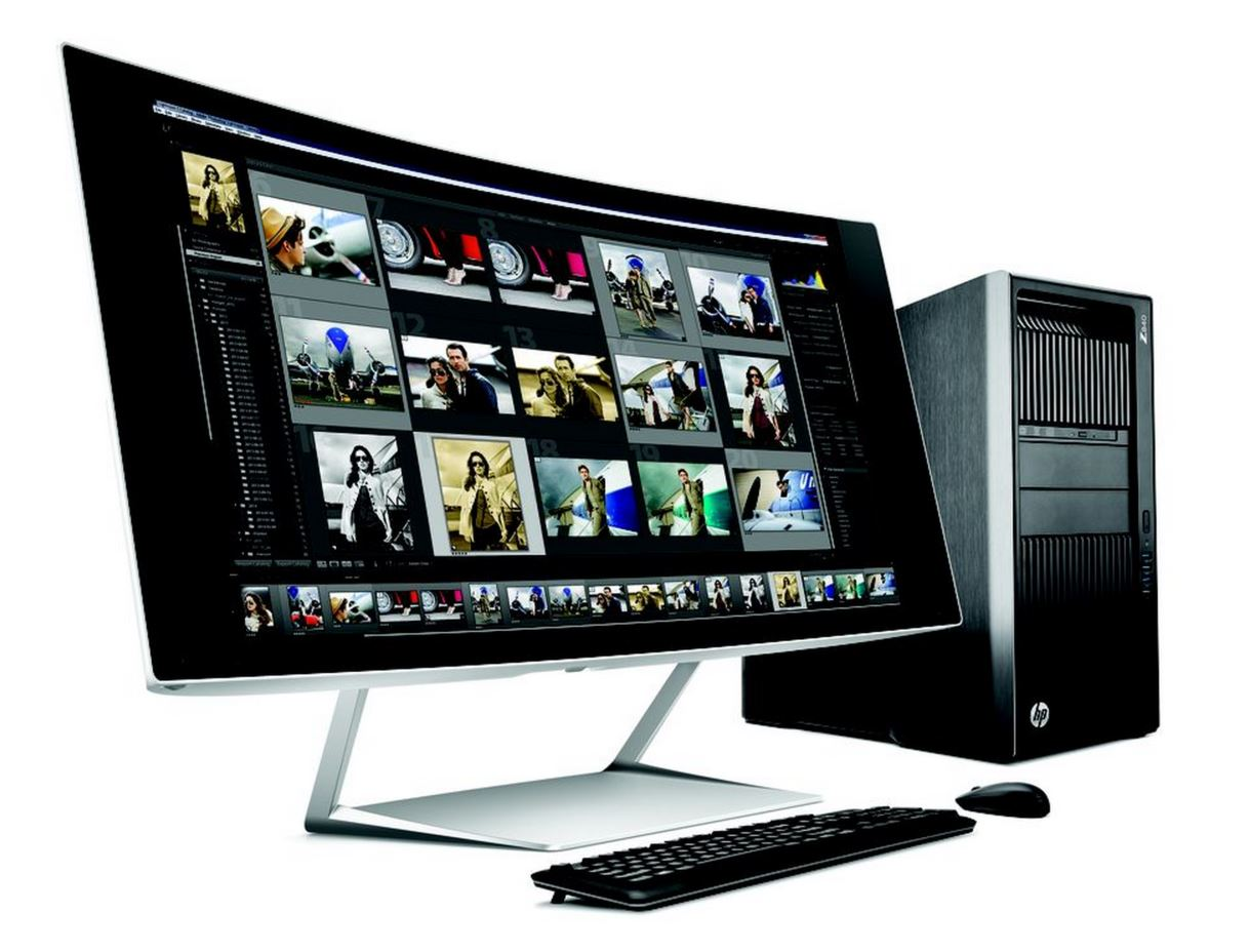 5K curved HP Monitor pc UHD