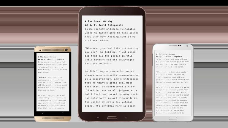Android app beta iA Writer Text Editor