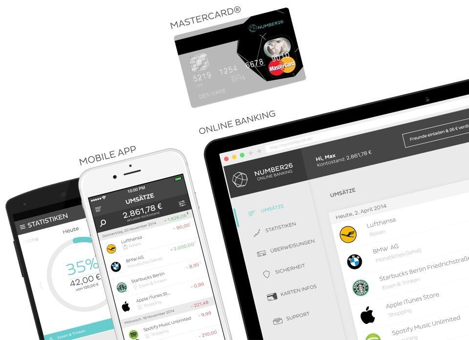 app Finanzen geld konto Number26