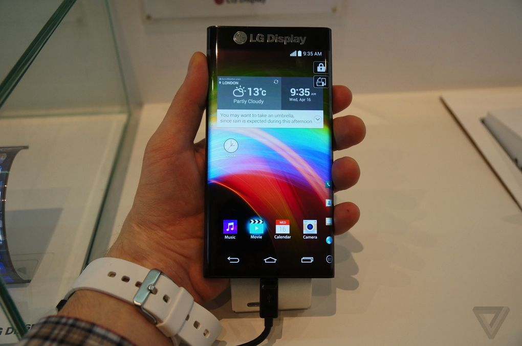 Android CES2015 gebogen LG prototyp